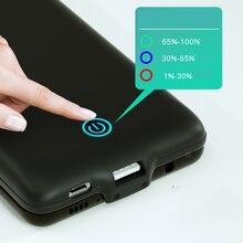 5000mAh USB شاحن بطارية الحال بالنسبة لسامسونج غالاكسي نوت 10 صدمات تمديد سلم قوة البنك الحال بالنسبة لسامسونج نوت 10 زائد