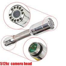 23mm tubulação de drenagem de inspeção do encanamento esgoto cobra câmera de vídeo cabeça da câmera de inspeção de parede com 512hz sonda transmissor