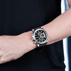 Image 5 - Relogio Masculino MEGIR New Sport Chronograph Silicone Mens Watches Top Brand Luxury Quartz Clock Waterproof Big Dial Watch Men