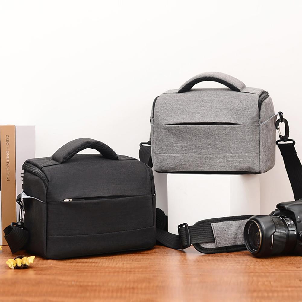 Portable Breathable Zipper DSLR Shoulder Camera Bag Outdoor Photography Pouch