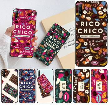 Sweet chocolate Rico Chico Black TPU Soft Rubber Phone Cover For Huawei Nova 6se 7 7pro 7se honor 7A 8A 7C Prime2019 image