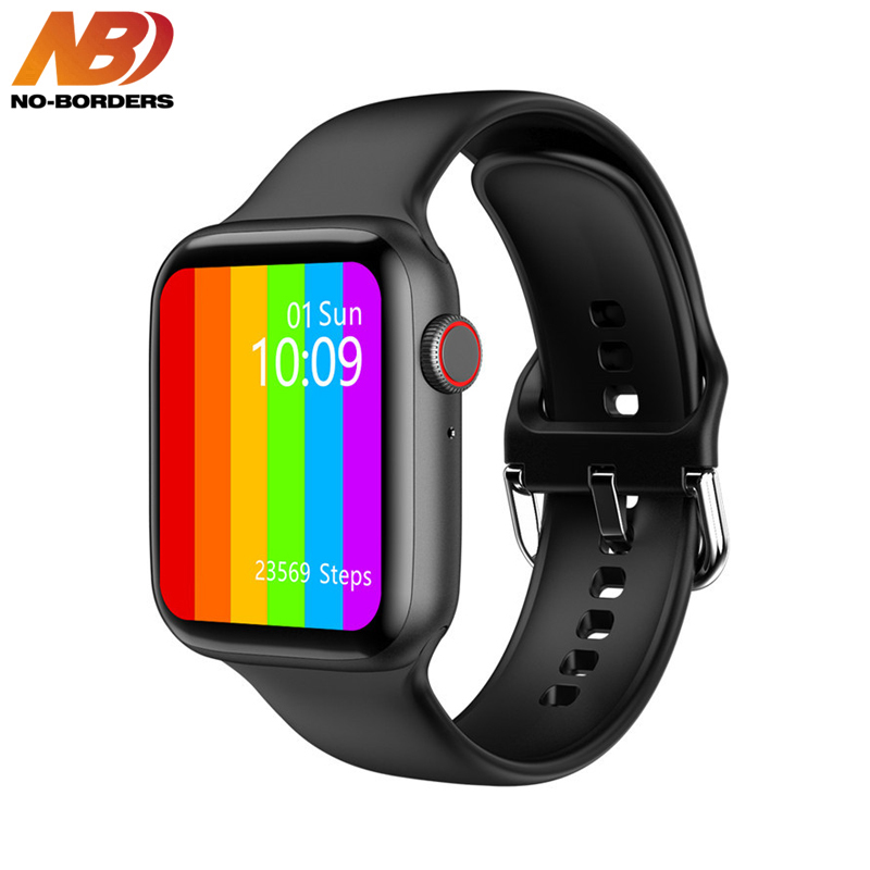 2020 Smartwatch IWO W26 Pro 44mm Smart Watch Series 6 Bluetooth Call ECG Heart Rate Monitor Temperature Waterproof PK IWO 13