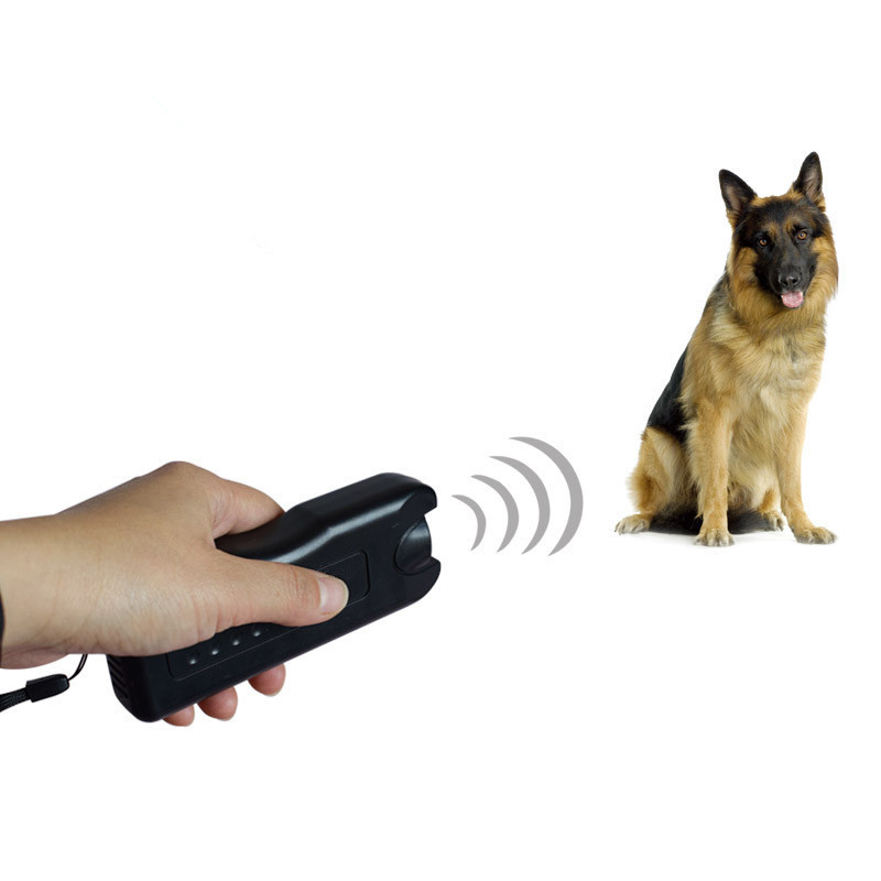 Ultrasonic Dog Chaser Away Self Defense Supplies Stops Aggressive Animal Attacks Deterrent Repeller Defense Flashlight Stick