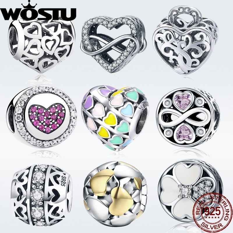 2019 Hot Sale 100% 925 Sterling Silver Love Charm Beads Fit Original Pandora Bracelet Bangle Authentic Fashion Jewelry Gift