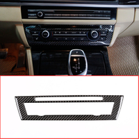Soft Carbon Fiber For BMW 5 Series F10 F18 520 2011 2017 Car Center Air Conditioning Decoration Frame Trim Stickers Accessories