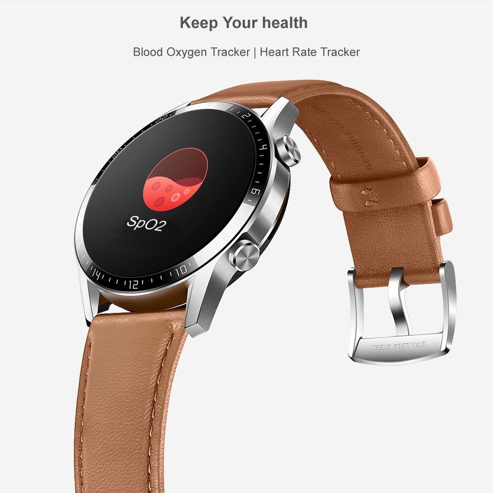 Reloj inteligente Huawei GT 2 rastreador de oxígeno en sangre spo2 Bluetooth Smartwatch 5,1 rastreador de frecuencia cardíaca para Android iOS - 6