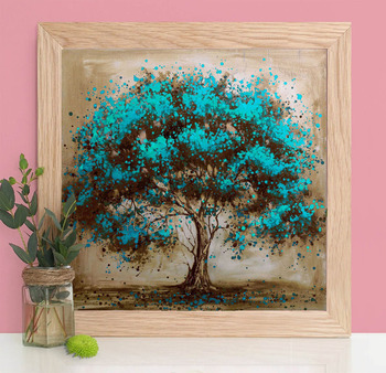 HUACAN Diamond Embroidery Sale Tree Mosaic 5D Diamond Painting Landscape Full Square Drill DIY Home