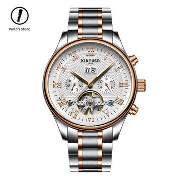 Luxury Tourbillon Mechanical Watch Men Kinyued Switzerland Top Brand Waterproof Automatic  Stainless Steel Sport Watch 2019 New