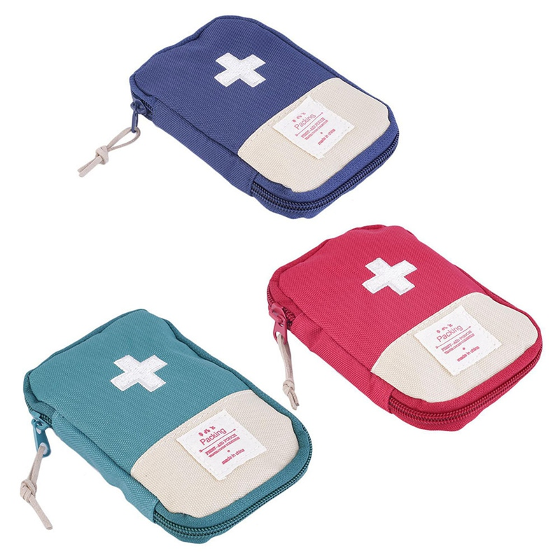 Outdoor First Aid Emergency Medical Bag Medicine Drug Pill Box Home Car Survival Kit Emerge Case Oxford Pouch