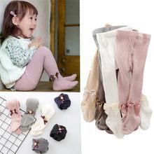 0-8 años de algodón de los niños pantimedias de bebé primavera Otoño Invierno Bowknot TightsKids infantil de Collant medias