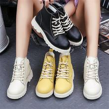 Женские ботильоны из искусственной кожи черные белые ботинки