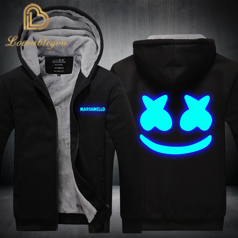 DJ <font><b>Skrillex</b></font> Men <font><b>Hoodies</b></font> Sweatshirts Winter Zipper Scarf Collar Sport Fleece Jackets Streetwear Plus Size Male Outwear image