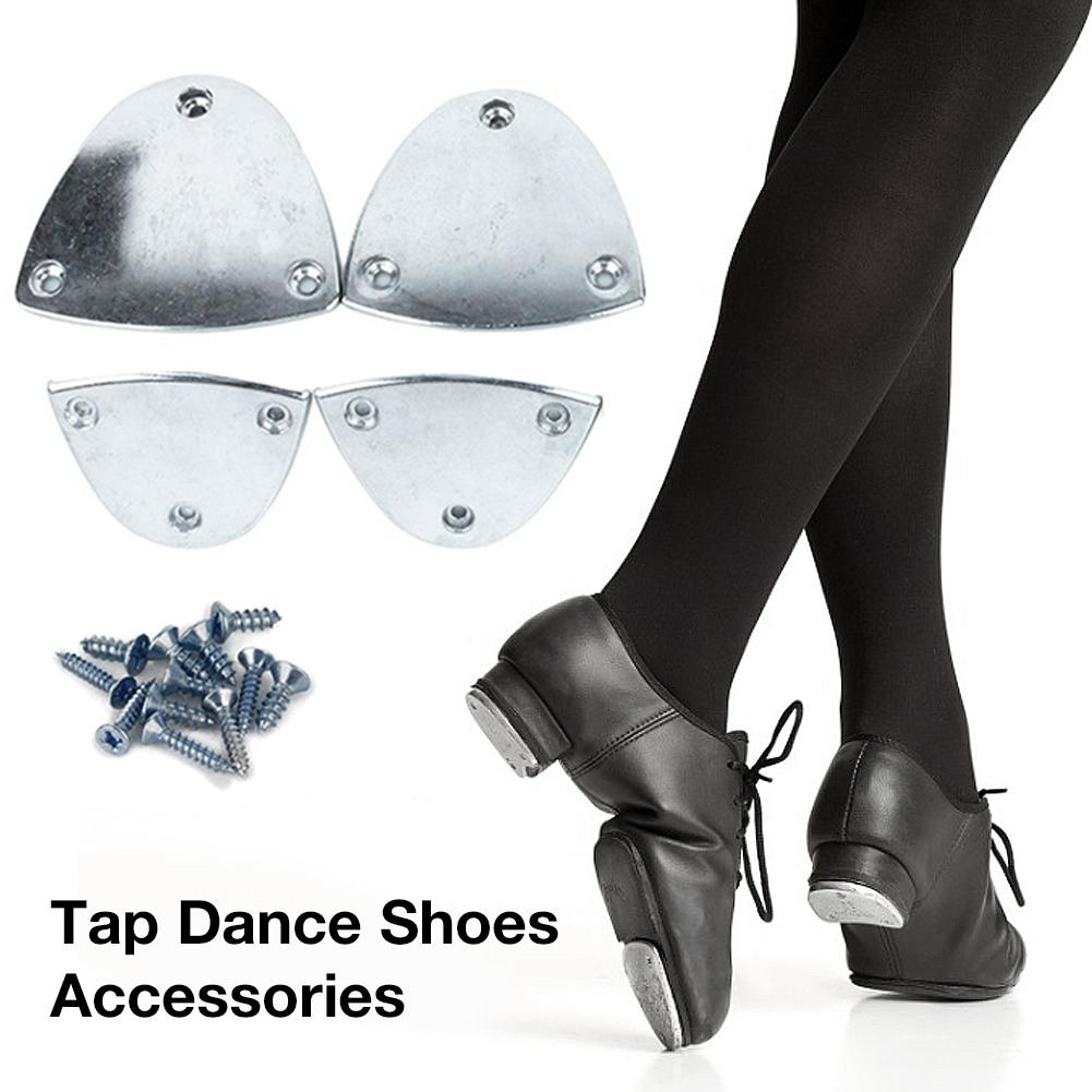 Tap Dance Step Dance Latin Dance Shoes Aluminum Pad Tap Dance Accessories Aluminum Stompers Clogging Taps Regular Nail-On Set 4