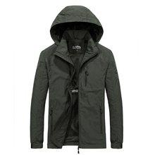 Coupe-vent militaire à capuche pour homme, veste imperméable, manteau, décontracté, vêtements masculins, automne, 2020