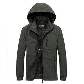 Men's Windbreaker Jackets Waterproof Military Hooded Water Proof Wind Breaker Casual Coat Male Clothing 2020 Autumn Jackets Men
