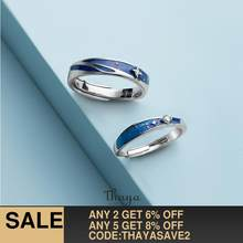 Thaya Original Design s925 Sterling Silver Nebula Rings Couple Fashion Rings For Women Elegant Fine Jewelry(China)
