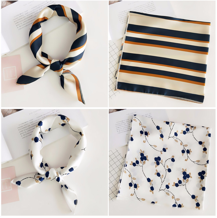 Hfd2ccb03c5ba4b468fcf1276bc13f597v - Square Scarf Hair Tie Band For Business Party Women Elegant Small Vintage Skinny Retro Head Neck Silk Satin Scarf