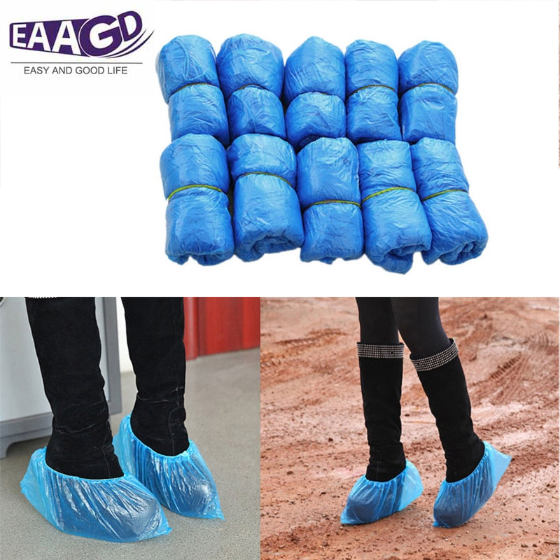 100Pcs Shoe Covers - Disposable Hygienic Boot Cover For Medical, Construction, Workplace, Indoor Carpet Floor Protection