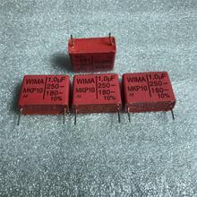4PCS RED WIMA MKP10 1U 250V p22.5mm original new MKP 10 105/250V audio 1000nf film 105 PCM22.5 hot sale 1uf/250v 1U