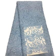 Нигерийская вышивка пайетками французский Тюль кружевная ткань для женского платья африканская кружевная ткань высокое качество кружева