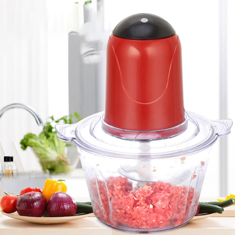 Automatic Powerful Electric Meat Grinder Multifunctional Electric Food Processor Electric Chopper Meat Slicer Cutter Blender(Eu