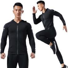 Mens Running Jacketing Gym Sport Zipper Cardigan Coat Outdoor Training Basketball football Long Sleeve Thin Fitness Man Hoodies