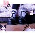 Женские туфли на платформе DORATASIA, милые туфли-лодочки на танкетке, высокий каблук, обувь для косплея в готическом стиле