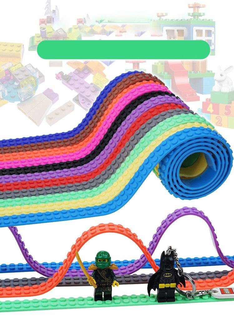 92cm Dots Plastic Loops Blocks Toy Adhesive Plastic Tape Kids  DIY Legoinglys Building Blocks Base Plate Sticky Backing Tape