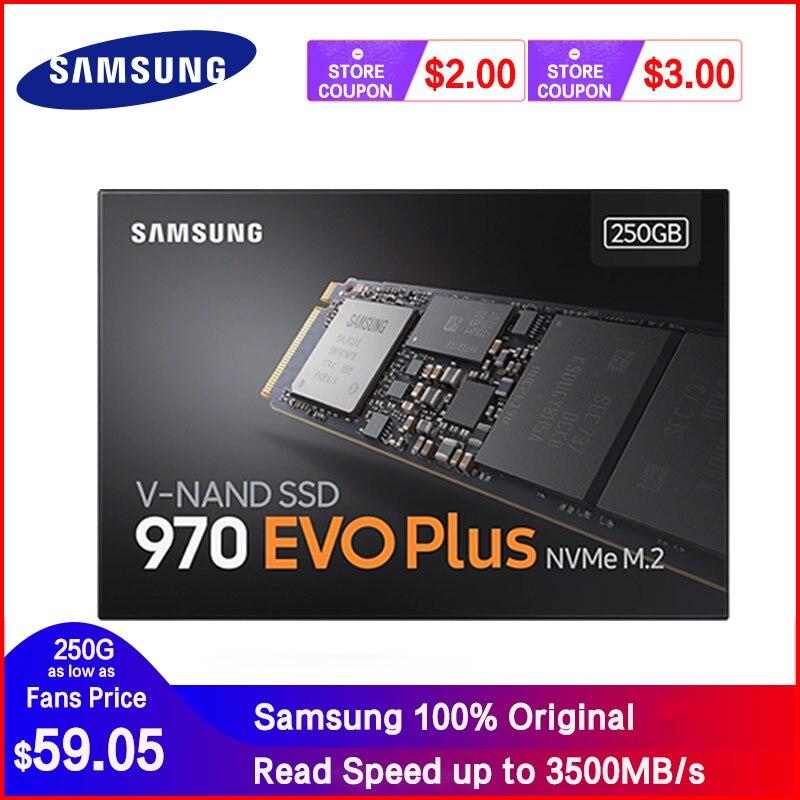 SAMSUNG SSD M.2 1TB 250GB 500GB 970 EVO Plus NVMe Internal Solid State Drive Hard Disk M2 2280 TLC PCIe Gen 3.0 x 4, NVMe 1.3(China)