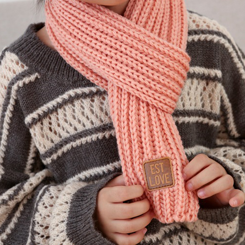 Children winter warm Knitted Scarves Solid Color Thick Keep Warm Kids Boys Girls Neck neckerchief