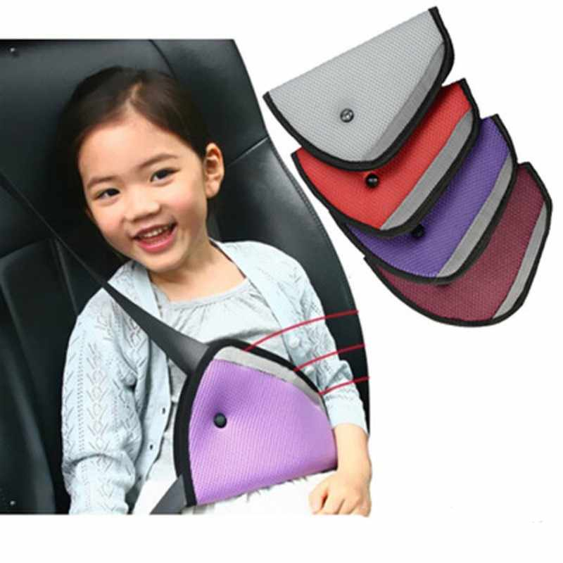 Baby Child Car Seat Safety Belt Cover Sturdy Adjustable Triangle Safety Seat Belt Pad Clips Protection Car-Styling Car Goods