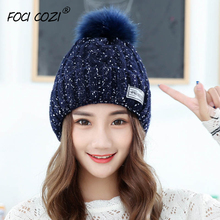 2019 Fashion Womens Winter Hat Youth Beanie Knitted Hats With Pom Navy/Black/Gray/Wine Red