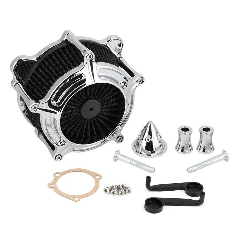 Filtre à Air pince filtre a air moto électrosilvering filtre à Air filtre Moto rcycle système dadmission dair convient pour Touring / FXDLS