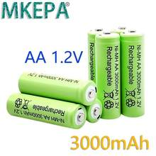 AA 3000 mAh 1.2 V Quality rechargeable battery AA 3000 mAh Ni-MH rechargeable 1.2 V 2A battery
