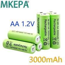 Aa 3000 mah 1.2 v bateria recarregável da qualidade aa 3000 mah ni-mh bateria recarregável 1.2 v 2a