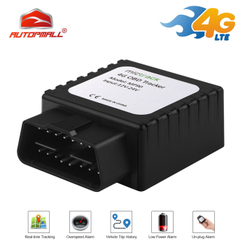 4G MP90 OBD II Tracker GPS Locator FDD LTE Realtime Track Vehicle GPS Easy Install OBD Plug Connector plug-and-play Car Free APP image
