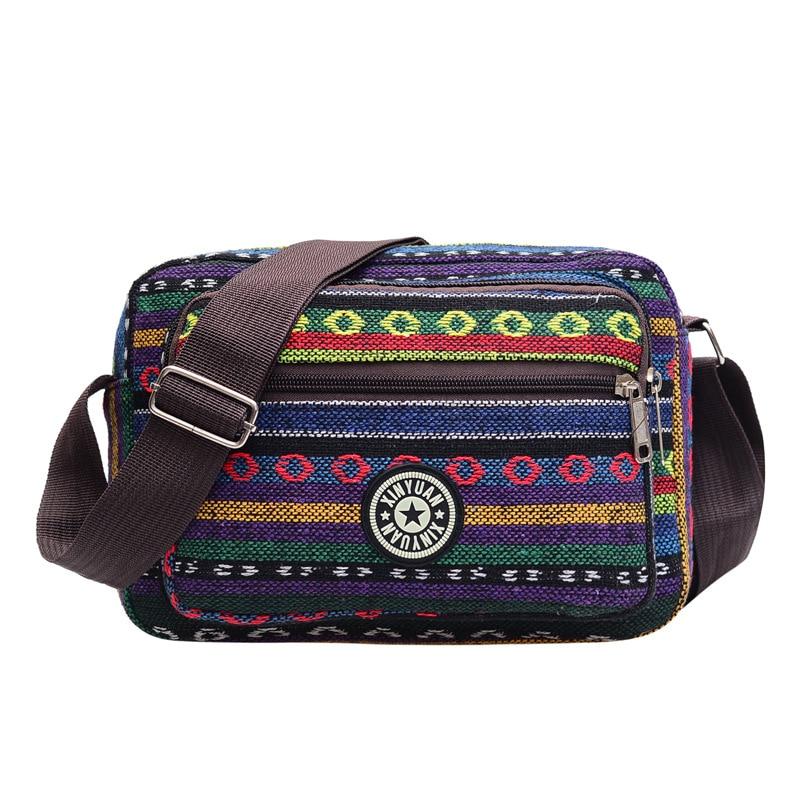 Ethnic fashion personalized printed women's bag Leisure Canvas large capacity one shoulder slant span bag