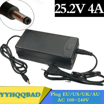 25.2V 4A 25.2v4a lithium li-ion battery charger for 6 Series 21.6V 22.2V 24V lithium li-ion Li-polymer battery pack good quality witblue new universal battery pack 3 7v 3000mah polymer lithium battery for 7 oysters t72hmi 3g irbis tz46 tz45 tz70 tablet