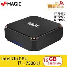 I7 7500U CK2 Mini PC Desktop Computer Windows 10 Intel i5 7300U 8GB DDR4 120GB SSD Gigabit WiFi 2,4G 5G WiFi/BT 4,2 4K mini pc