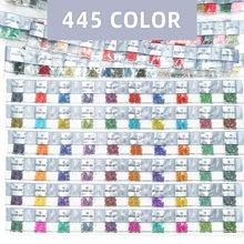 5D bricolage diamant peinture carré/rond forets DMC 445 couleurs 200 pièces/sac strass perles pour manque forets pour 10 sacs par couleur