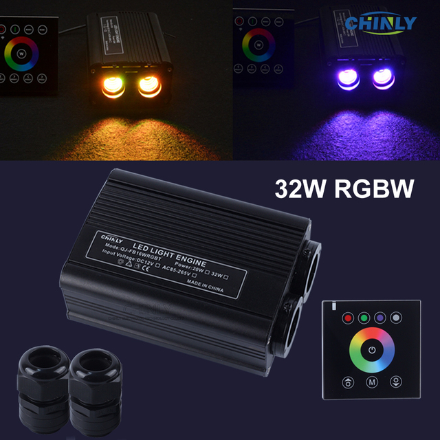 32 واط RGBW 2.4 جرام اللاسلكية الجدار التبديل اللمس تحكم LED الألياف البصرية محرك سائق لجميع أنواع الألياف الضوئية مجموعة