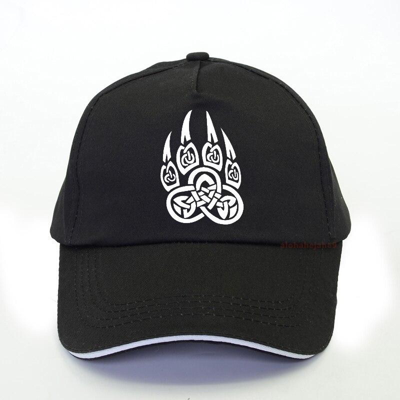 Viking Wolf Claws Baseball Cap Summer Print Men Women Punk Nordic Runes Bear Paw Talisman Amulet Dad Hat Snapback Bone