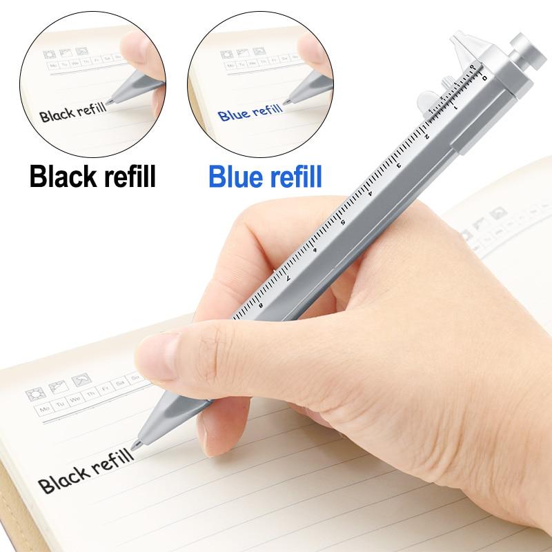 Multifunction 0.5mm Gel Ink Pen Vernier Caliper Roller Ball Pen Stationery Ball-Point 2 Colors