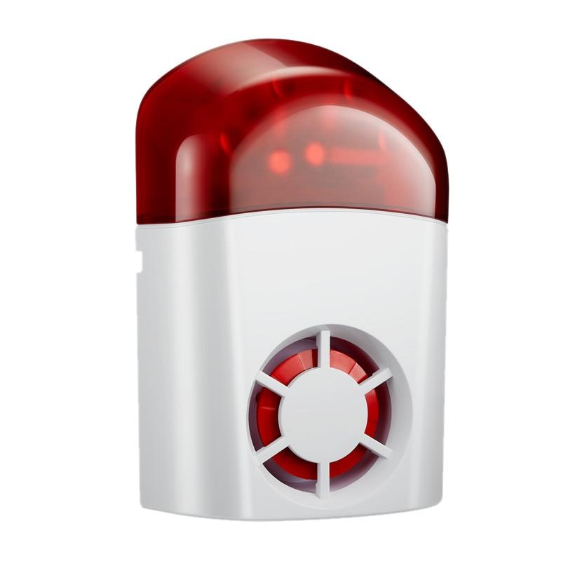 New Wireless Weatherproof External Flash Led Strobe Outdoor Siren For Home G2B O2B GSM Alarm System(EU Plug)