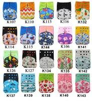 Ohbabyka pañal de tela reutilizable AI2, bolsillo, cubierta de pañal de bebé, pañal de tela con doble fuelle, pañales lavables suaves y transpirables, paquete de 10