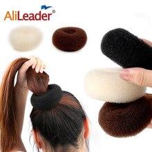 Alileader moda ferramentas de cabelo estilo diy magia bun criador cabelo trança acessórios estilos esponja donut bun maker penteado s/m/l