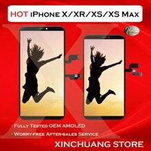 Qualidade original lcd para iphone x xr xs max tela oled display substituição com toque 3d verdadeiro tom nenhum pixel morto com ferramentas