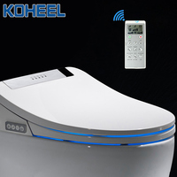 KOHEEL bathroom smart toilet seat cover electronic bidet clean dry seat heating wc gold intelligent led light toilet seat|Toilet Seats| |  -