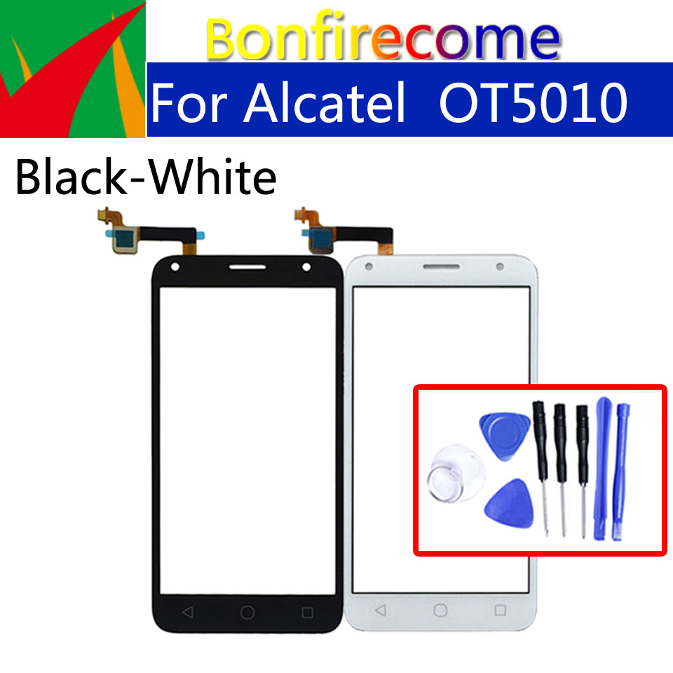 Touchscreen For Alcatel One  Pixi 4 5.0 OT5010 OT 5010 5010D 5010E 5010X Touch Screen Panel Sensor Digitizer Glass  Replacement