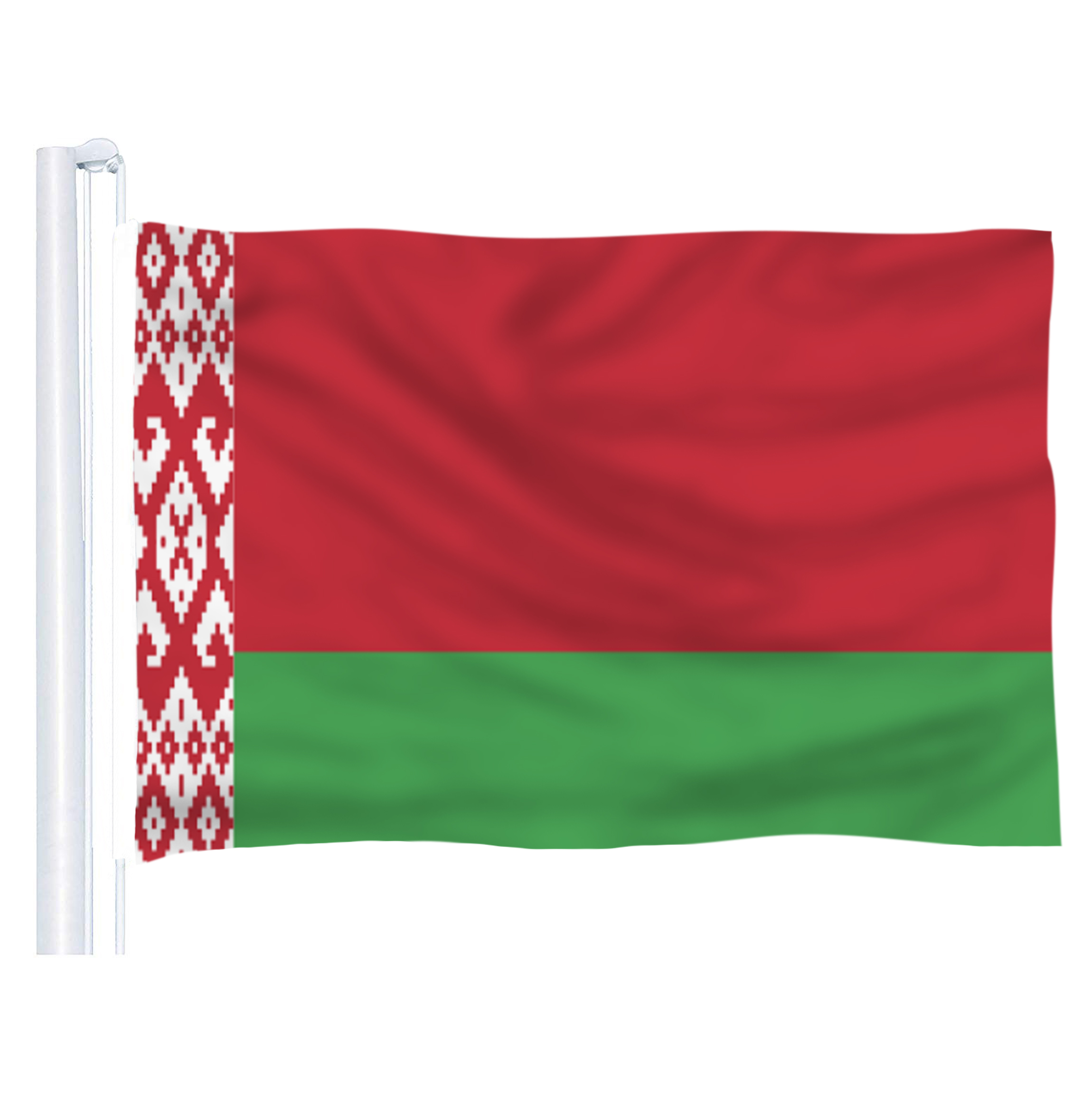The Belarus  Flag   Polyester Flag 5*3 FT 150*90 CM High Quality you Can add brass buckle(leave massage)